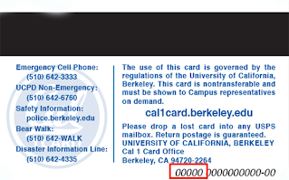 Cal1 ID Card